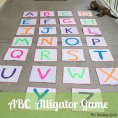 This ABC Alligator game is easy to make, fun to play, and will help your child learn the ABCs!