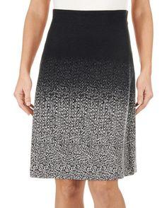 Ombre Jacquard A-Line Skirt