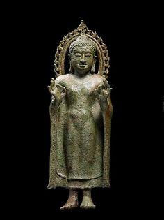 Buddha Preaching, 8th to 9th century. Copper Alloy. Thailand. Metropolitan Museum