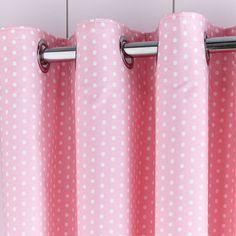 Fluffy Friends Pink Blackout Eyelet Curtains   Dunelm
