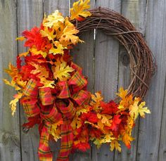 Fall Wreath by HornsHandmade on Etsy, $59.00