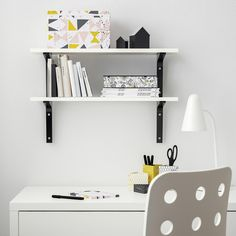 IKEA offers everything from living room furniture to mattresses and bedroom furniture so that you can design your life at home. Check out our furniture and home furnishings! Ikea White Shelves, Floating Shelves, Floating Wall, Display Shelves, Wall Shelves, Book Wall Shelf, Ikea Ekby, Etagere Design, Diy Home Repair