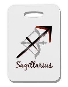 TooLoud Sagittarius Symbol Thick Plastic Luggage Tag