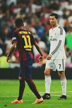 El Clasico. La Liga BBVA. 25/10/14. Cristiano Ronaldo v Barcelona. Neymar.
