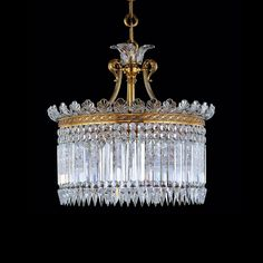 The Baccarat Crinoline crystal chandelier was created at the end of the century and its Classic style inspired by iconic Second Empire petticoats. The Crinoline chandelier fans out on a gilt bronze oval structure supporting a set of large cut Lustre Baccarat, Baccarat Chandelier, Art Deco Chandelier, Baccarat Crystal, Ceiling Chandelier, Antique Chandelier, Chandelier Pendant Lights, Modern Chandelier, Ceiling Lights