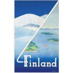 Finland talvi-kesä / Juliste11