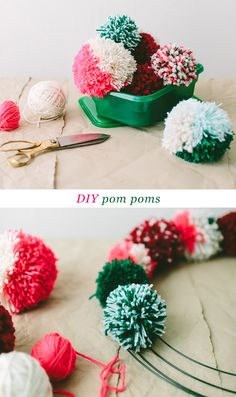 pom pom garland - DIY tutorial