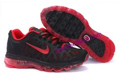 Mens Air Max 2011 Red Black Red And Black Shoes, Red Black, Air Max Sneakers, Sneakers Nike, Nike Air Max 2011, Shoe Sale, Men, Fashion, Nike Tennis