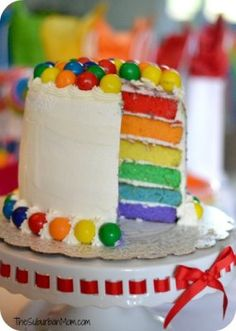 Rainbow Birthday Party Cake, Food & Decoration Ideas