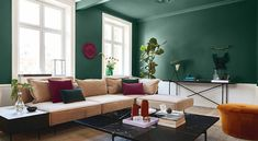 Green is the color of 2019 and Sigma Coatings presents QUIET CLEARING – PPG the shade of green that makes us feel surrounded by nature Living Room Paint, Living Room Grey, Living Rooms, Color Inspiration, Interior Inspiration, Paint Brands, Color Of The Year, Color Trends, Green Colors