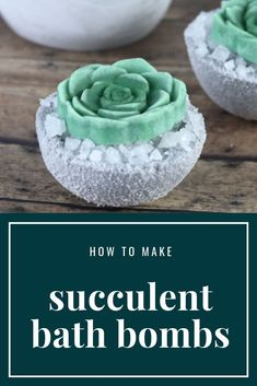 Succulent Bath Bombs DIY With a Bath Melt on Top For Dry Skin This adorable succulent bath bomb recipe is made with coconut milk powder and shea butter to moisturize skin. It also has a cute bath melt succulent… Homemade Bath Bombs, Homemade Soap Recipes, The Body Shop, Best Bath Bombs, Diy Bath Bombs, Bath Boms, Bath Bomb Molds, Bombe Recipe, Bath Bomb Recipes