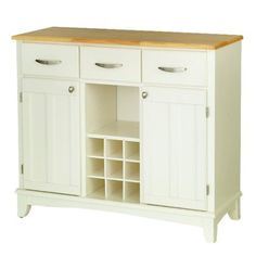 Hutch-Style Buffet - White/ Natural.Opens in a new window