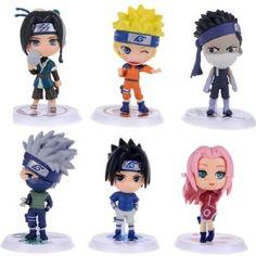 "Naruto Figures 6pcs Set 2.5"" PVC Shippuden Kakashi Haruno Sakura Toys Lot"