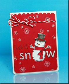 Let it snow card. Lawn Fawn