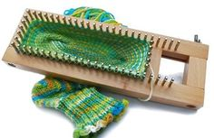 Purple Linda Crafts UK based - mostly crochet supplies but also Knitting & craft supplies (sock loom shown here) Sock Loom Patterns, Rainbow Loom Patterns, Knitting Patterns, Crochet Patterns, Crochet Motif, Baby Hats Knitting, Knitting Socks, Knit Socks, Knitting Needles