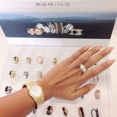 BERING; Classic Collection and Arctic Symphony Collection; Ladies watch and ring