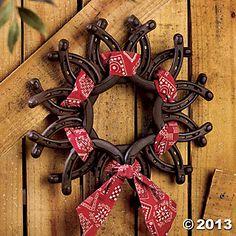 Horseshoe Wreath with Bandana - Oriental Trading - Discontinued