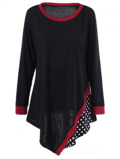 GET $50 NOW | Join RoseGal: Get YOUR $50 NOW!http://www.rosegal.com/plus-size-t-shirts/plus-size-polka-dot-asymmetric-988702.html?seid=7954655rg988702