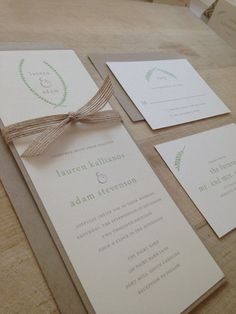 Wedding Invitation Suite // Rustic and Vintage // Natural and Elegant Invite // Twine and Burlap // Sample Set