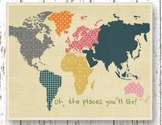 Etsy find of the day – Dr Suess world map