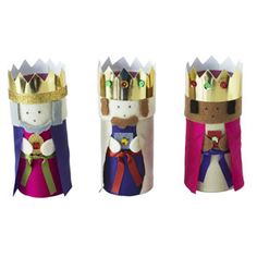 Three kings: nativity scene to make from toilet-roll tubes - Christmas craft - allaboutyou.com More