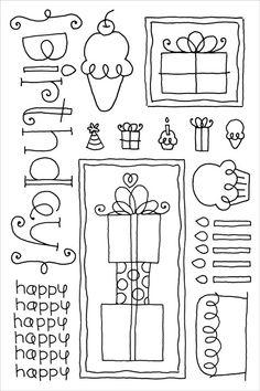 Doodlebug clear stamp