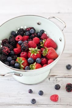 Berries, photographed by Helen of Tartelette. #photography #food