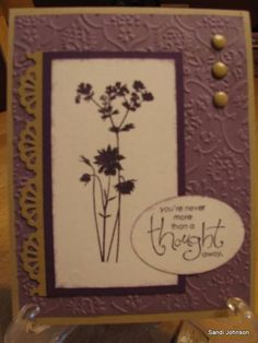 Floral thought away by sandijcrafts - Cards and Paper Crafts at Splitcoaststampers