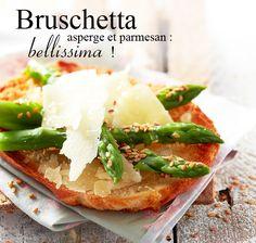 #Recette bruschetta asperge et parmesan