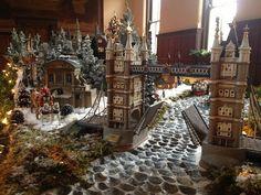 dickens village display   CincyWhimsy: ST. FRANCIS SERAPH CHRISTMAS VILLAGE