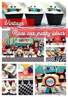 Dessert Table for a Vintage Race Car Birthday Party - www.spaceshipsandalserbeams.com: