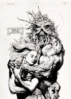 Swampthing #128 pg.24 Pinup by Glenn Fabry 1992