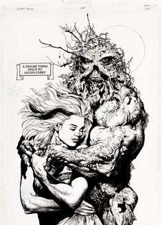 Swampthing #128 pg.24 Pinup by Glenn Fabry 1992