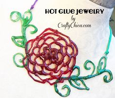 Diary of a Crafty Chica™: How to  Make Hot Glue Jewelry!