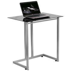 Flash Furniture NAN-2905-GG Black Tempered Glass Computer Desk