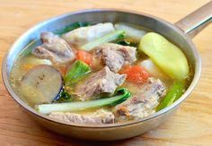 Sinigang na Baboy (Pork Ribs Sour Soup)
