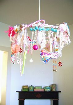 silly old suitcase lampshade chandelier