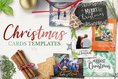 Christmas Cards Template v2 by 7th Avenue Designs on @creativemarket