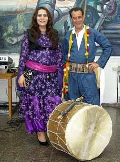 Traditional kurdish clothing for men and women