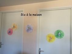 DIY décoration anniversaire rosace Trolls