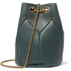 J r me Dreyfuss Popeye textured leather shoulder bag ($450) ❤ liked on Polyvore featuring bags, handbags and shoulder bags