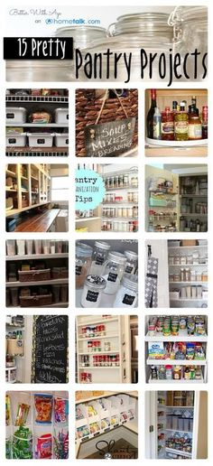 clever pantry storage solutions Idea Box by Meredith Wouters 15 Pretty Pantry Projects to get your pantry Pretty Pantry Projects to get your pantry organized! Pantry Storage, Pantry Organization, Pantry Ideas, Pantry Diy, Organized Pantry, Food Storage, Kitchen Ideas, Organisation Hacks, Organizing Ideas