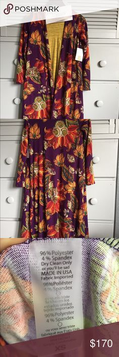 Outfit: LLR NWT xs Sarah & LLR NWT xxs Carly Unicorn outfit!  LuLaRoe new with tags xs Sarah (stretchy, purple background) paired with LuLaRoe new with tags xxs Carly (mustard yellow with microstripes). Smoke free home!  Same day or next day shipping (unless weekend or holiday)!! LuLaRoe Sweaters