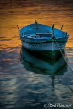 When the sun sets, Provincia  Girona, Spain