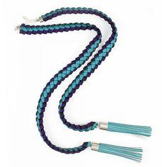 Odile lariat tassel necklace – blue purple