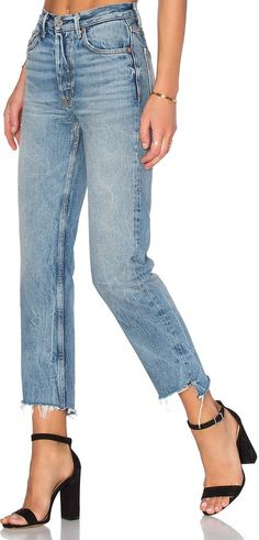 GRLFRND x REVOLVE Helena High-Rise Straight Jean on ShopStyle