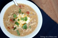 White Chicken Taco Chili Recipe - Eating on a Dime