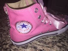 Chicas rosa Hello Kitty Converse cristales de Swarovski y