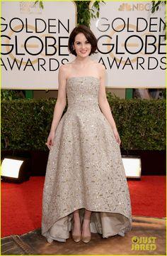 Michelle Dockery in Oscar de la Renta // Golden Globe Awards