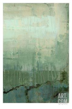 Emerald Sky II Stretched Canvas Print by Jennifer Goldberger at Art.com
